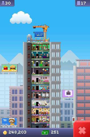 Arcade Tiny tower für das Smartphone