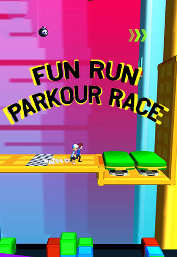 Fun run: Parkour race 3D captura de pantalla 1