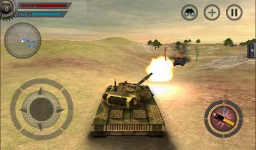 Simulator-Spiele Tank war: Attack für das Smartphone