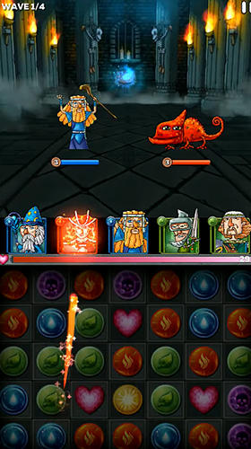 Puzzleland: Match 3 RPG captura de pantalla 3