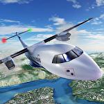 Airplane flight pilot simulator icono
