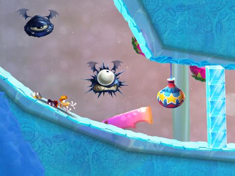 Screenshot Rayman beim Fest auf dem iPhone