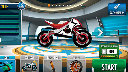 Rider: Space bike racing game online Screenshot
