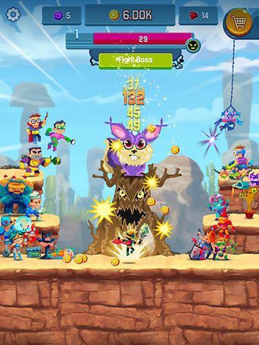 Idle hero clicker game: Win the epic battle auf Deutsch