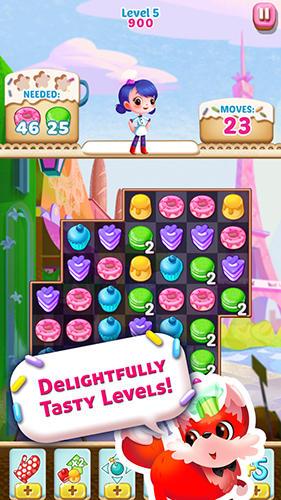 3 Gewinnt-Spiele Cupcake mania: Philippines auf Deutsch