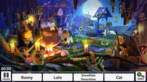 Abenteuer-Spiele Halloween: Hidden objects für das Smartphone