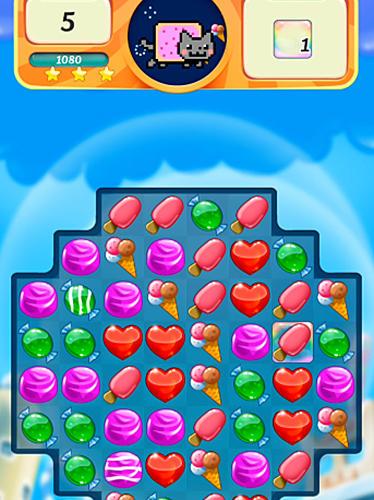 3 Gewinnt Nyan cat: Candy match auf Deutsch