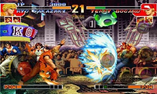 Multiplayer (Bluetooth): spiel The king of fighters 97 für BlackBerry