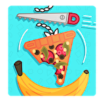 Find the balance: Physical funny objects puzzle icon