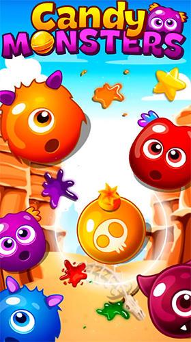 Süßigkeiten-Monster: Match 3 Screenshot
