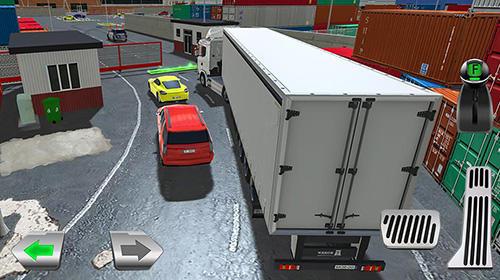 Cargo crew: Port truck driver auf Deutsch