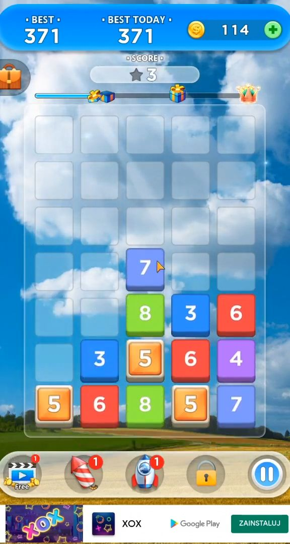 Merge Number Puzzle captura de pantalla 1