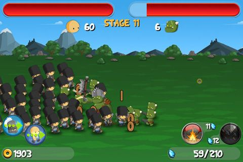 Arcade games: download A little war to your phone