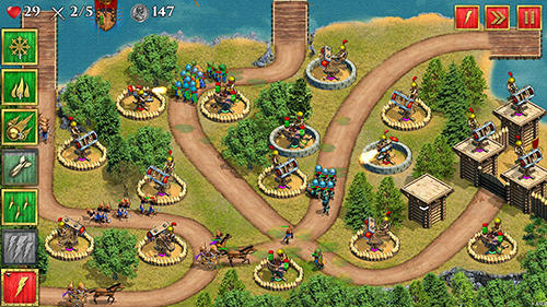 Defense of Roman Britain TD: Tower defense game in English