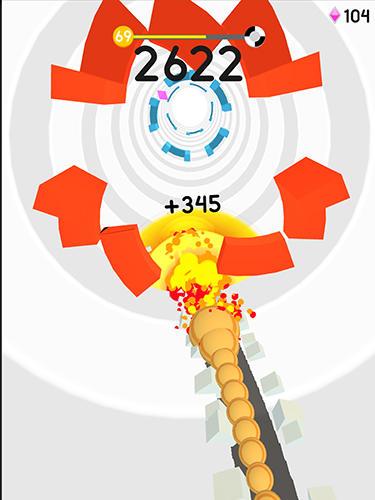 Arcade-Spiele Twisty snake für das Smartphone