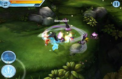 Captura de tela O Equipe de Heróis no iPhone