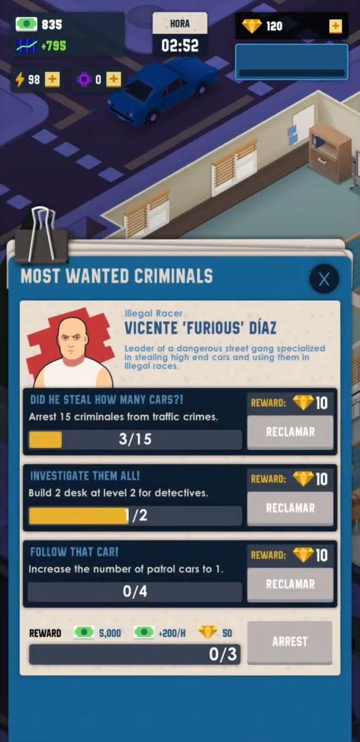 Idle Police Tycoon - Cops Game скриншот 1