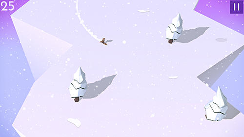 Mountain dash: Endless skiing race screenshot 4
