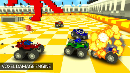 Blocky monster truck smash para Android