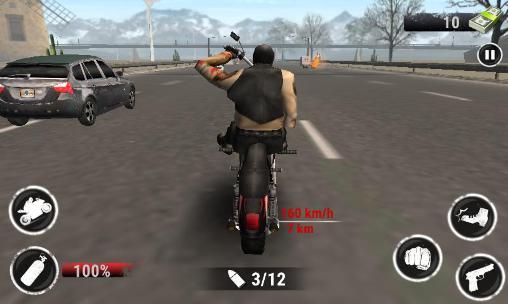 Spiele mit Motorrädern Highway racing: Stunt rider. Rash auf Deutsch