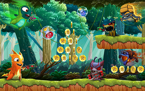 The slug of fighters. Slugs jetpack fight world screenshot 1