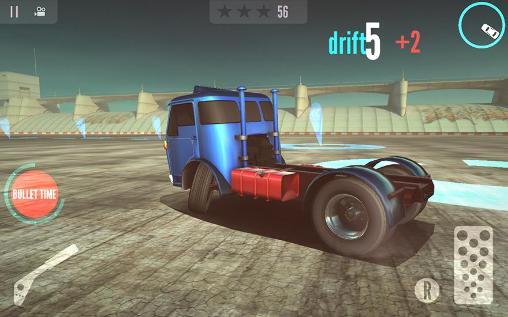 Simulator-Spiele Drift zone: Trucks für das Smartphone