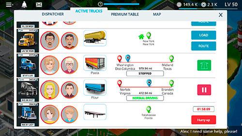 Strategiespiele Virtual truck manager: Tycoon trucking company für das Smartphone