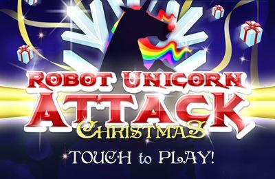 logo Roboter Einhorn Attacke - Weihnachtsedition