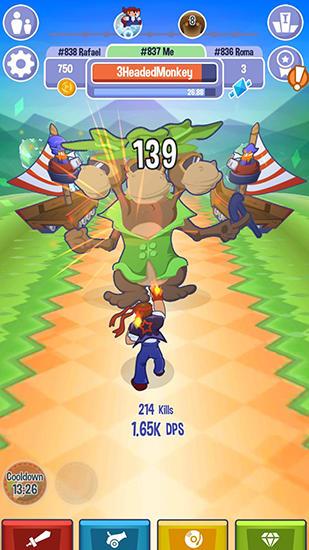 Arcade-Spiele Triple tap attack für das Smartphone