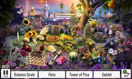 Abenteuer-Spiele Hidden оbjects: Mystery garden für das Smartphone