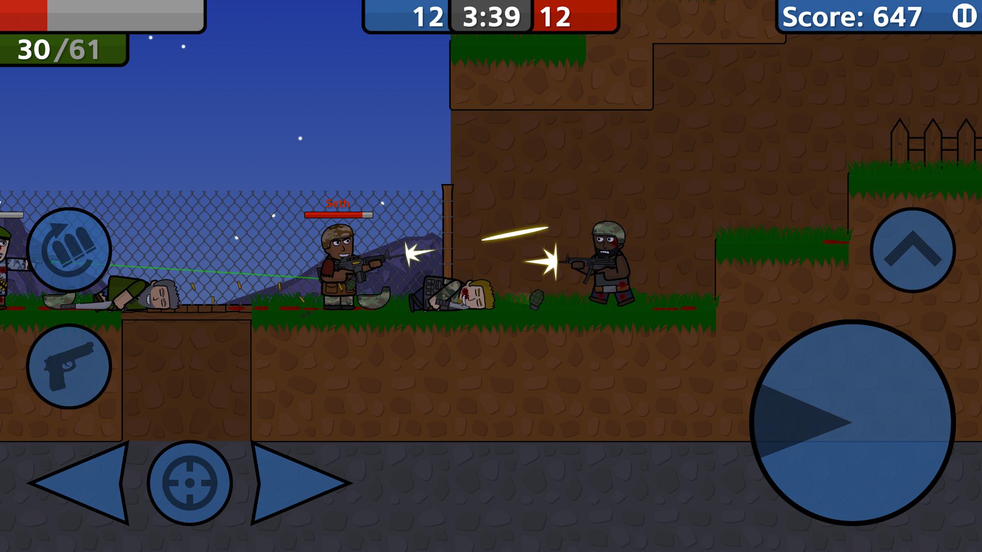 Wargunners: Online 2D Shooter capture d'écran 1