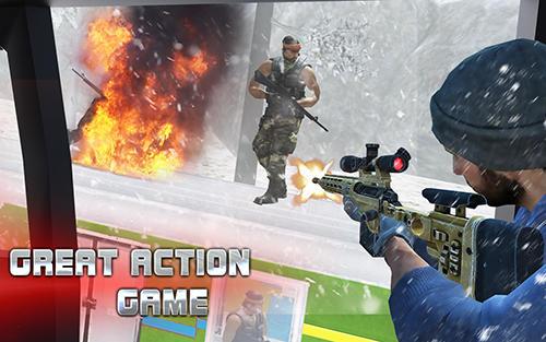 Action Sniper train war game 2017 für das Smartphone