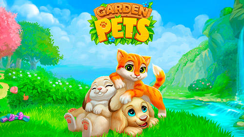 Garden pets: Match-3 dogs and cats home decorate Screenshot