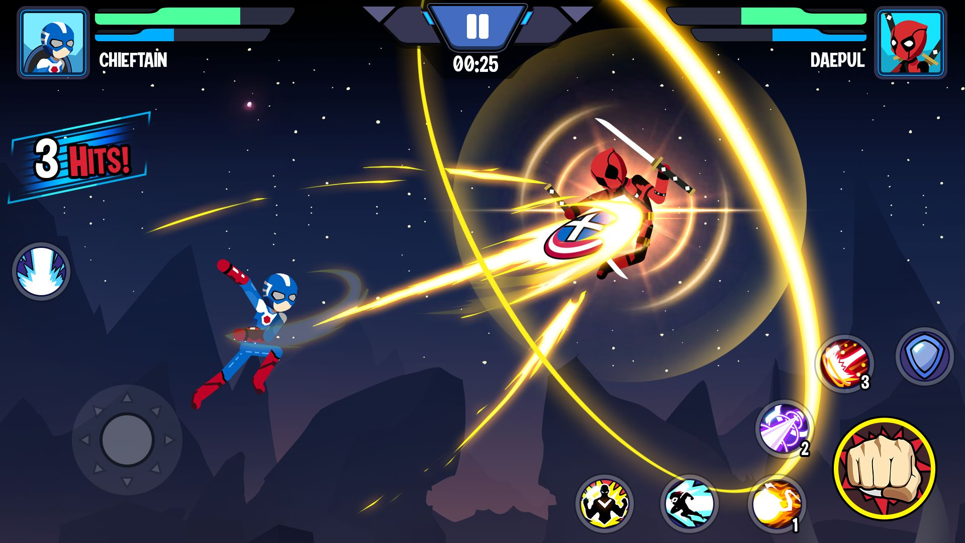 Stickman Superhero - Super Stick Heroes Fight für Android
