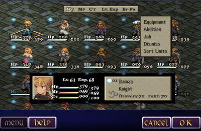 RPG-Spiele: Lade Final Fantasy Taktiks: Der Krieg der Löwen auf dein Handy herunter