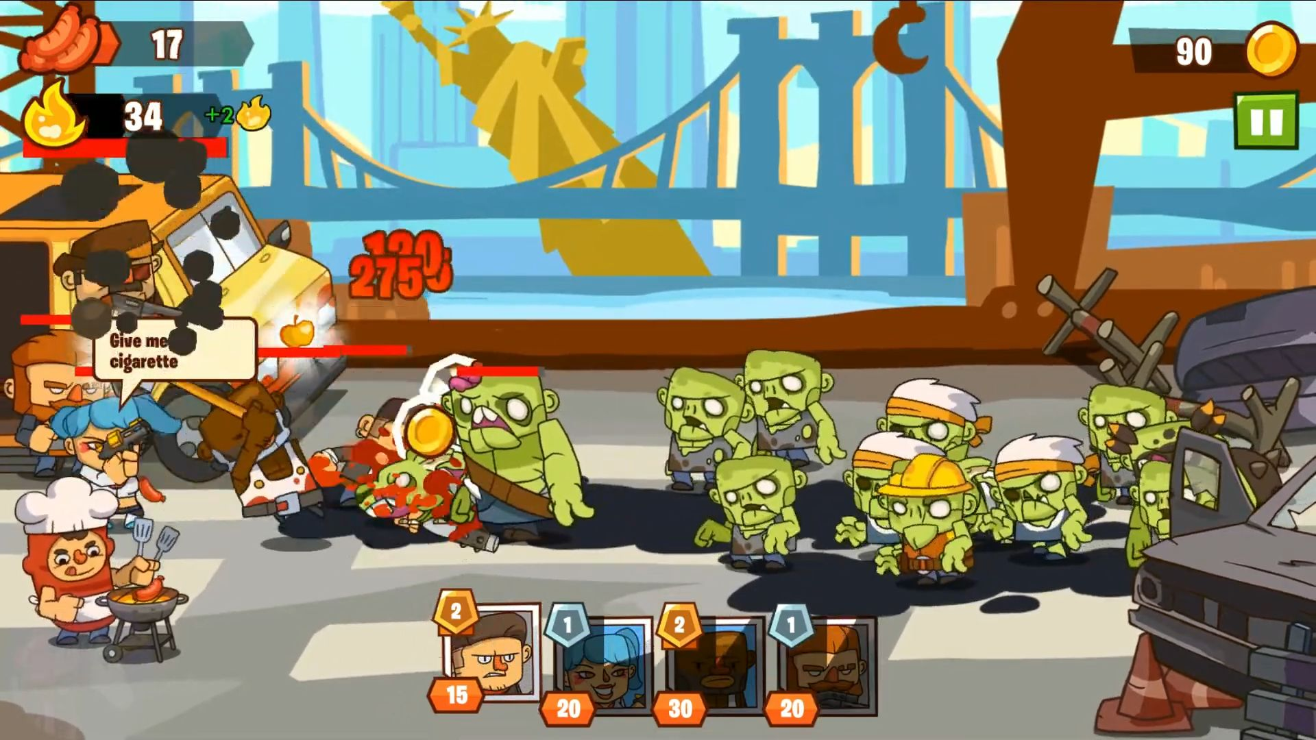 Zombie Defense 2: Offline TD Games capture d'écran 1