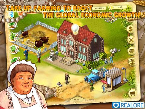 Captura de tela A Fazenda de Jane no iPhone