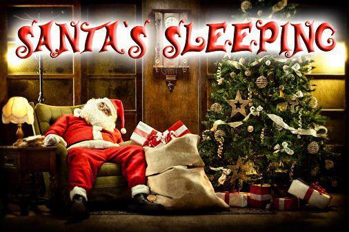 logo Santa's sleeping