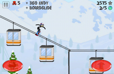 Stickman Snowboarder for iPhone