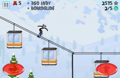 Stickman Snowboardeur pour iPhone gratuitement