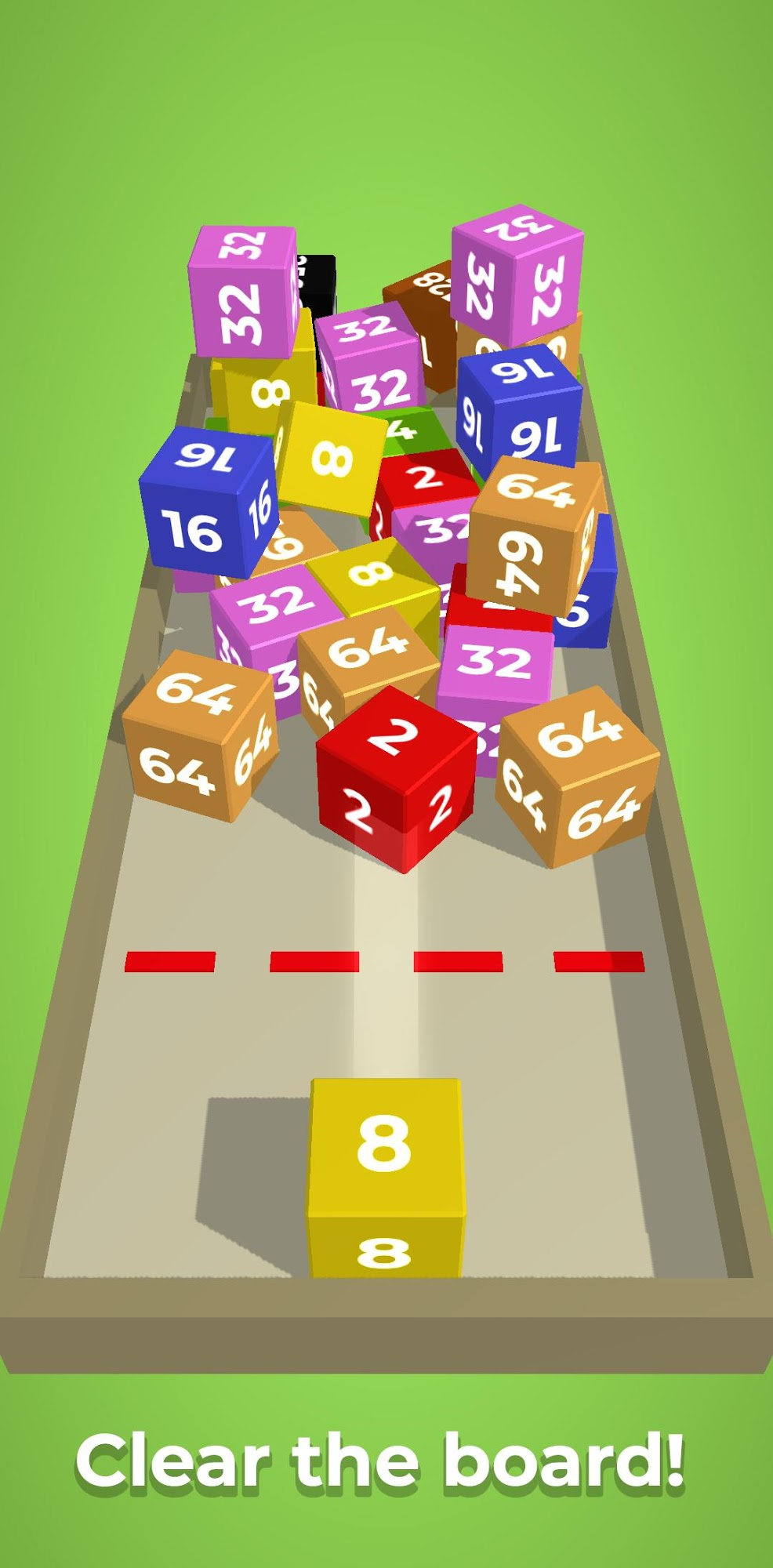 Chain Cube: 2048 3D merge game for Android