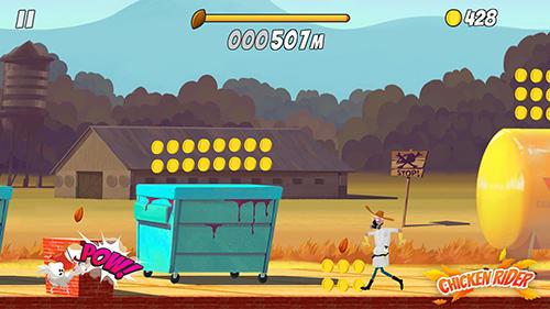 Arcade-Spiele Chicken rider für das Smartphone