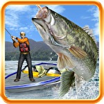Bass Fishing 3D on the Boat Symbol