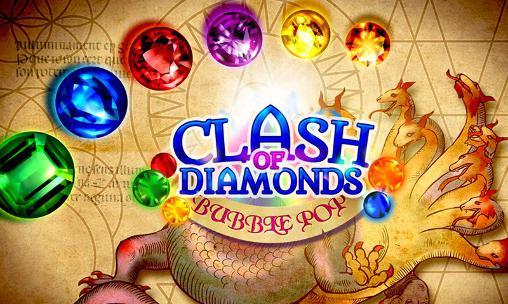 Clash of diamonds: Bubble pop icon