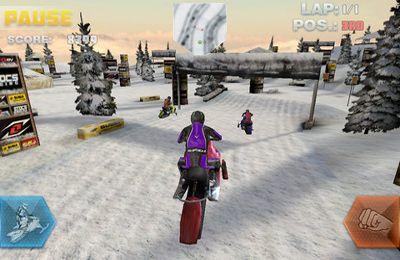 Screenshot Das Snowbike-Rennen auf dem iPhone