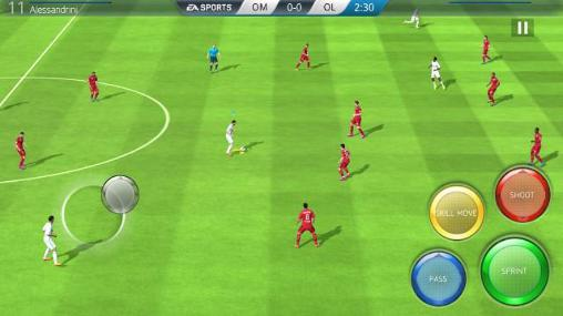 Online games FIFA 16: Ultimate team for smartphone