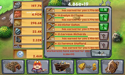 Arcade-Spiele Idle miner tycoon. Clicker mine idle tycoon für das Smartphone