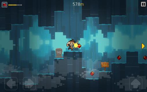 Arcade-Spiele Crevice hero für das Smartphone