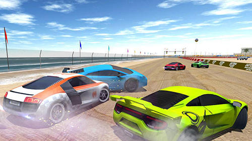 Deltona beach racing: Car racing 3D captura de tela 1