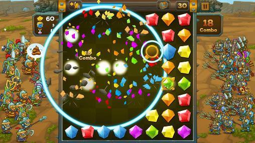 Arcade-Spiele Crystal crusade für das Smartphone